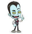 cartoon funny scary vampire boy character vector image vector image