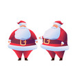 cartoon santa claus in red costume flat vector image vector image