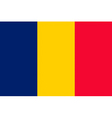 chadian flag vector image vector image