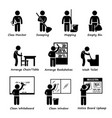 classroom student duty roster stick figure vector image vector image
