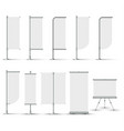 collection blank different design white banner vector image vector image
