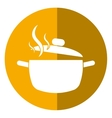 cooking pot kitchen food shadow vector image