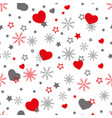 cute winter seamless pattern with vector image vector image