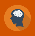 Education Flat Icon Brain vector image