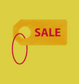 flat shading style icon sale label vector image vector image