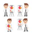 funny cartoon businessman on the phone vector image
