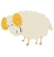 funny ram animal character vector image vector image