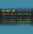 futuristic equalizer waves for the hud interfaces vector image