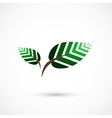 Geometrical leaves vector image