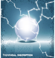 glass ball and lightning vector image vector image