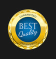 gold premium best price badge bright blue element vector image vector image