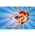 Greco Roman wrestling men vector image