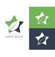 herbal logo pharmacy icon leaf in star vector image vector image