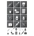 icons set Medicine and doctor vector image