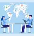 international business partners organizations vector image