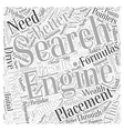internet marketing search engine placement Word vector image vector image