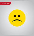 isolated frown flat icon sad element can vector image vector image