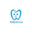 kids dental logo design mascot design vector image