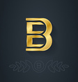 Letter B Template for company logo with monogram vector image vector image