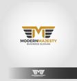 letter m - modern majesty logo template vector image vector image