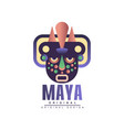 maya original design emblem with american indian vector image vector image