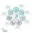 minimalistic infographic design layout vector image vector image