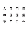 mobile phone content icons on white background vector image