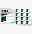 modern 2020 calendar design template in geometric vector image