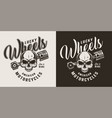 monochrome custom motorcycle shop badge vector image vector image