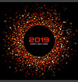 new year 2019 card background vector image vector image