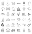 nursemaid icons set outline style vector image vector image