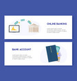 online banking and bank account opening concept vector image