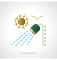 Outdoor shower flat color icon vector image