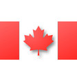 paper cut canada flag vector image vector image