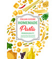 pasta spaghetti and macaroni with italian herbs vector image vector image