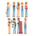 people of different professions labor day vector image