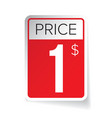 Price Tag sticker - One usd vector image vector image