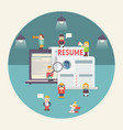 recruitment concept vector image vector image