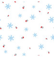 santa claus and snowflake seamless pattern vector image