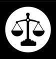 scales of justice icon design vector image