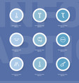 set of 9 editable instrument icons line style vector image