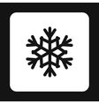 Snowflake icon in simple style vector image vector image