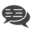speech bubbles glyph icon seo and development vector image vector image