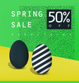 spring sale poster sale badge advertising card vector image vector image