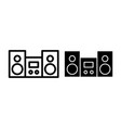 stereo line and glyph icon stereo system vector image