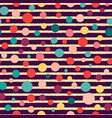 stripes and dots seamless pattern on dark vector image