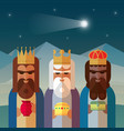 three magic kings orient cartoons vector image vector image