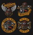 vintage custom motorcycle vintage labels vector image vector image
