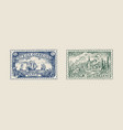 vintage postage stamp for album ancient vector image vector image