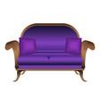violet sofa icon cartoon style vector image